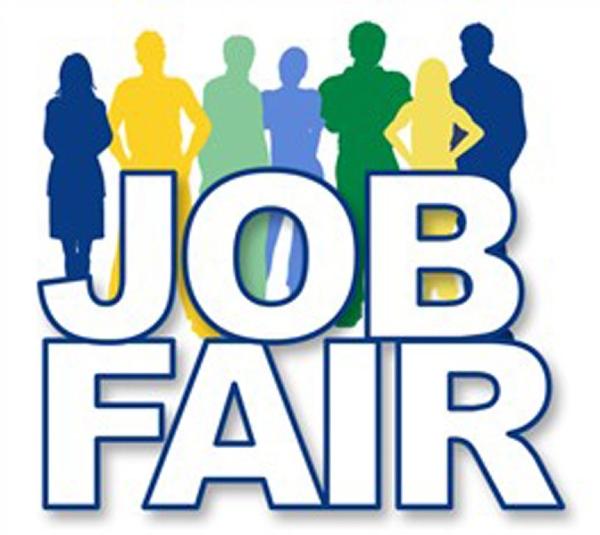 An image of english letters denoting job fair